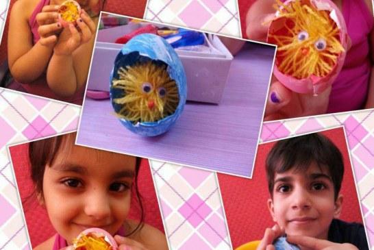 کلاس اوریگامی این هفته مهد جاویدان تخم مرغ و جوجه?