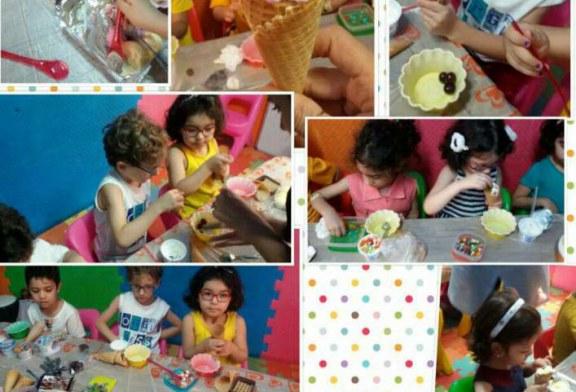 جشن بستنی قیفی در مهد تمام الکترونیک جاویدان